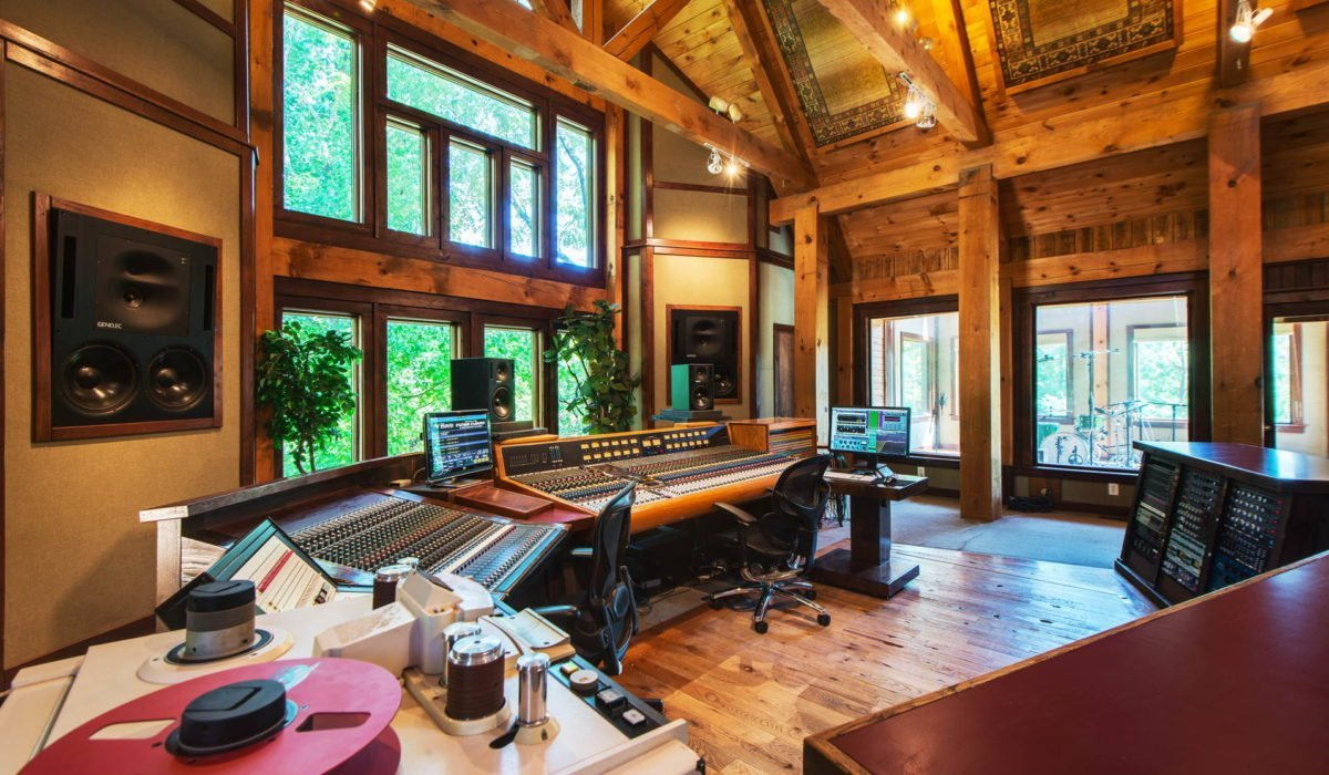 "Dark Horse Recording ""The Lodge"" Control Room right side"
