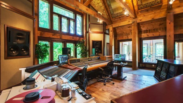"""Lodge-2Dark Horse Recording """"The Lodge"""" Control Room right side"""